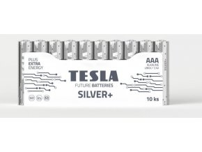 Baterie Tesla Alkalické Silver+ AAA (LR03/1,5V, 10ks v bal,mikrotužka)