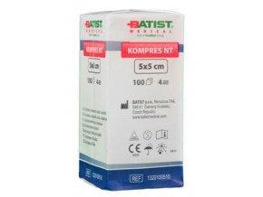 Netkaný kompres NT 5 x 5 cm, nesterilní – 100 ks
