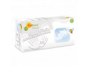 Nitrilové rukavice BEESURE® Cloud - ultra jemné (bez pudru), bílé, 300ks