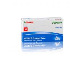 flower rukavice vys nitril nepud m modre a200ks