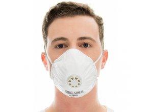 mascara bls pff2 com valvula tipo concha 129b protecao particulas solidas e liquidas