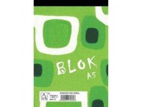 ctvereckovany blok sity a5