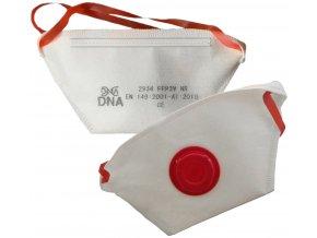 boite de 10 demi masque ffp3 nr avec soupape pliable sachets individuels