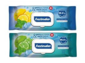 Antibakteriální ubrousky - Freshmaker©, 120ks, citrusová vůně