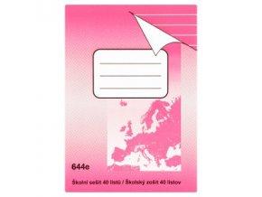 Sešit A6 644 linkovaný - 40 listů
