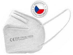 Respirátor/ochranná maska FFP3, bílý, vyrobeno v ČR