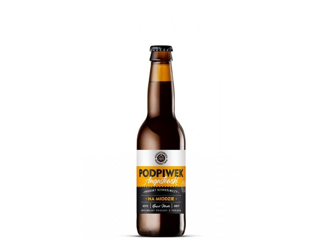 Augustowska Miodosytnia - Podpiwek Augustowski na Miodzie (Nonalcoholic honey beer) - 0.33 l  glass