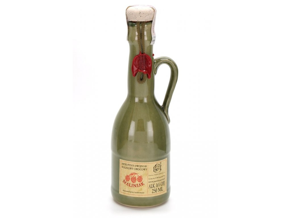 Pasieka Jaros - Miód pitny Dwójniak - Maliniak (ceramic) - 0.25 l  ceramic