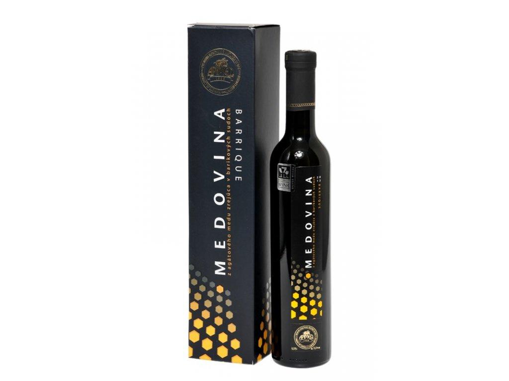 Apimed - Medovina barrique (acacia honey) (deluxe box) - 0.38l  glass