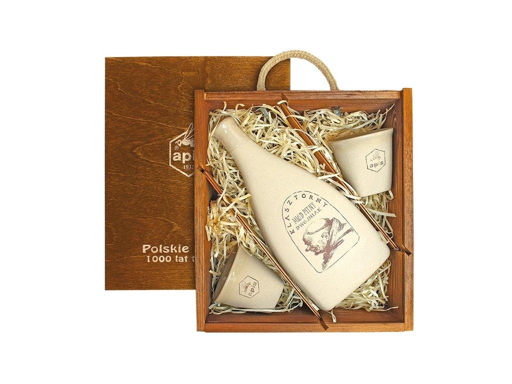 Apis - Klasztorny - Miód pitny dwójniak (gift box with 2 cups) - 0.50l