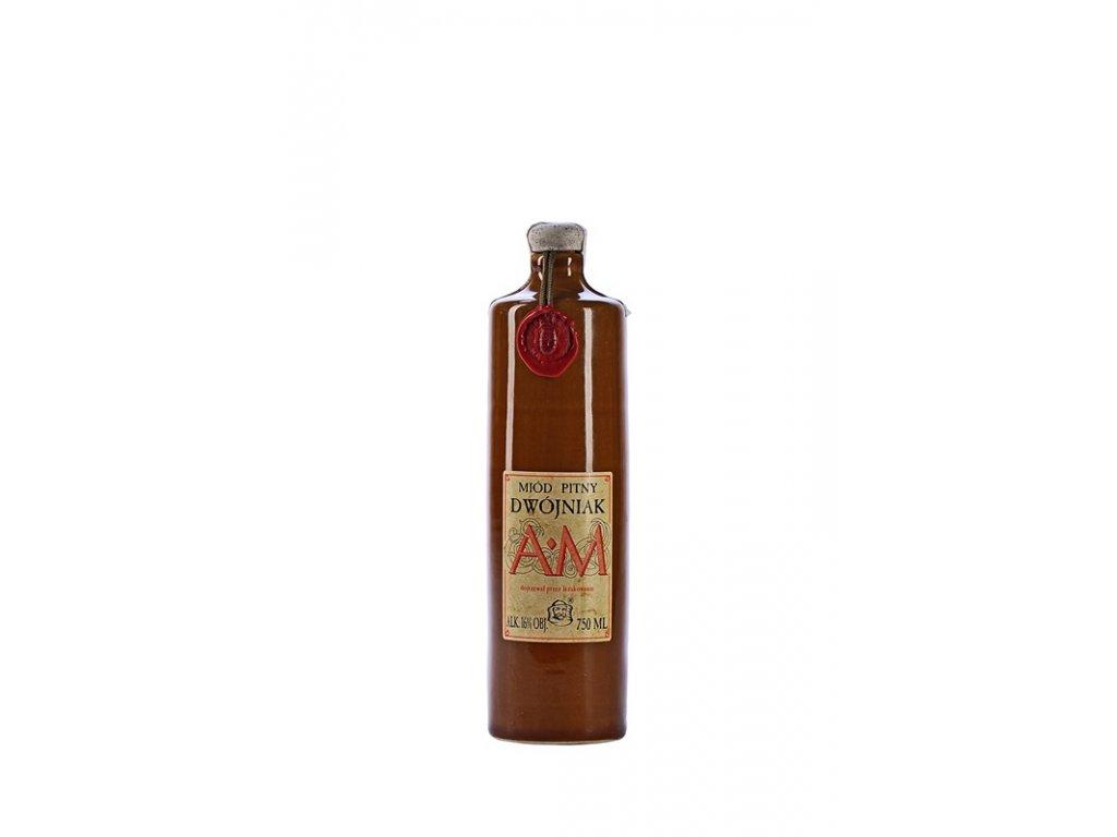 Pasieka Jaros - Miód pitny Dwójniak - AM - 0.75 l  ceramic