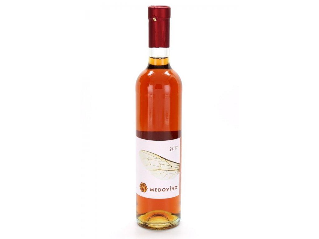 Medovino - Medovíno sladové (Braggot - Mead with Hops and Malt) - 0.5 l  glass