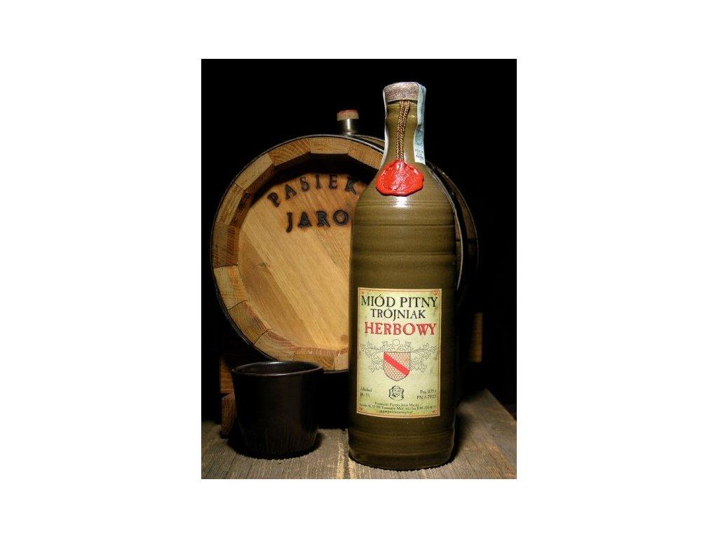 Pasieka Jaros - Miód pitny Trójniak - Herbowy - herbal - 0.75l  ceramic