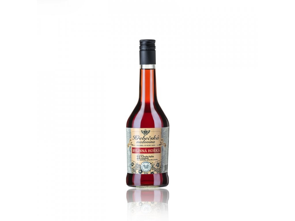 Hrebecska medovina - Hrebecska mead - bylinna horka (herbal bitter) - 0.5 l
