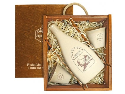 Apis - Klasztorny - Miód pitny dwójniak (gift box with 2 cups) - 0.5 l