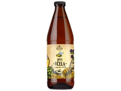 Včelco - Wild bee - honey cider with hops - 0.5 l  glass
