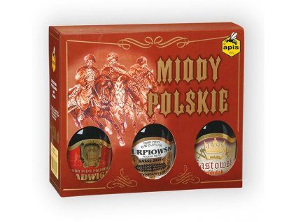 Apis - Miody polskie - Gift box with 3 types of mead (Christmas version) - 0.75 l