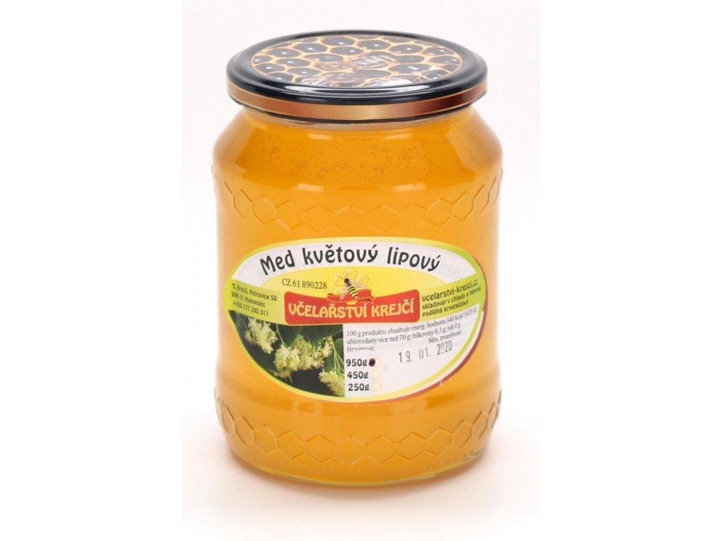 Včelařství Krejčí - Med květový lipový - 0,95kg