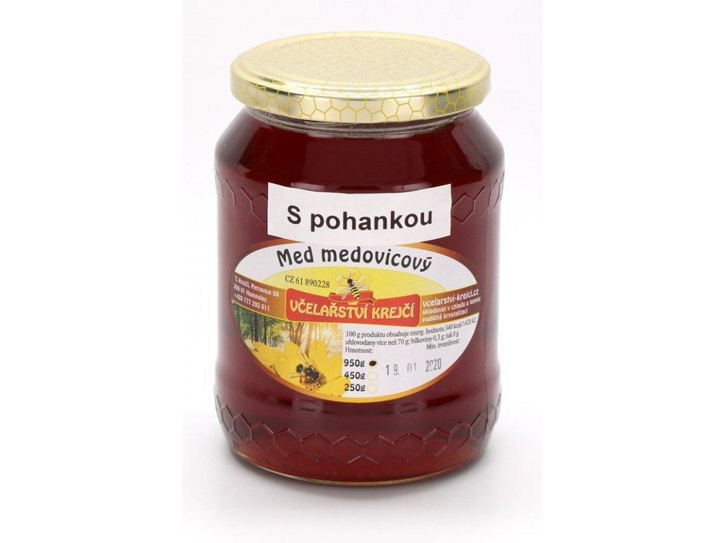 Včelařství Krejčí - Med medovicový - s pohankou - 0,95 kg