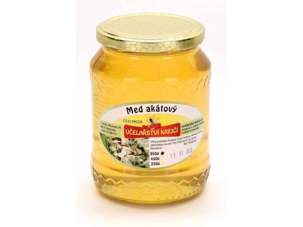 Včelařství Krejčí - Med akátový - 0,95kg