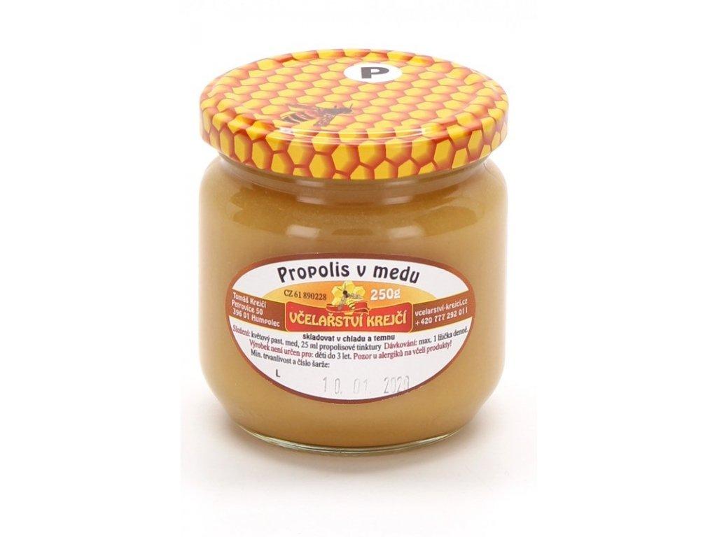 Včelařství Krejčí - Propolis v medu - 0,25 kg