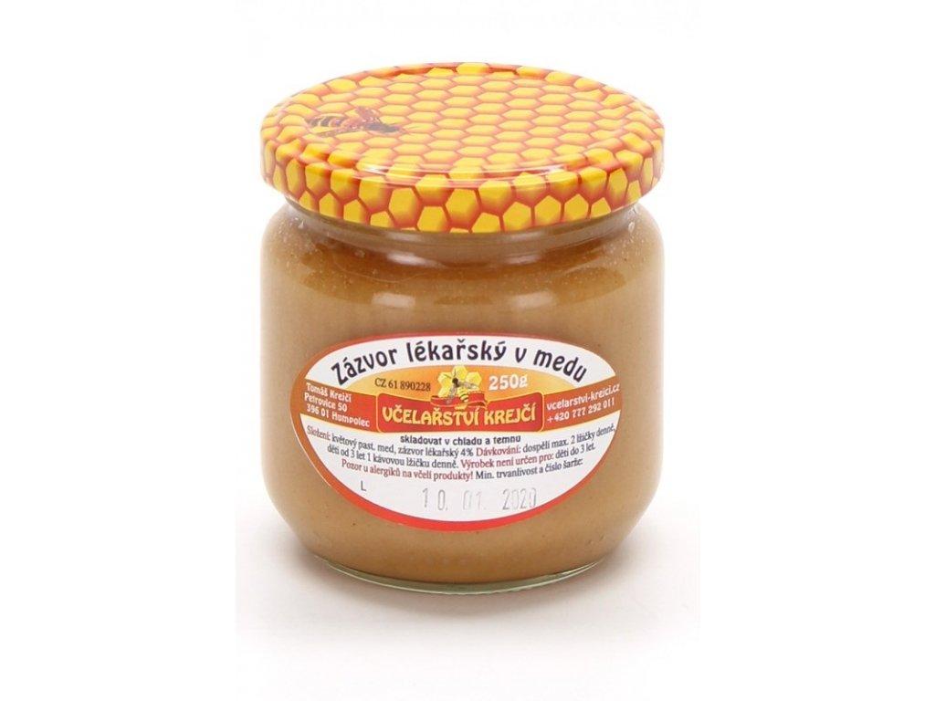 Včelařství Krejčí - Zázvor lékařský v medu - 0,25kg  0,25kg