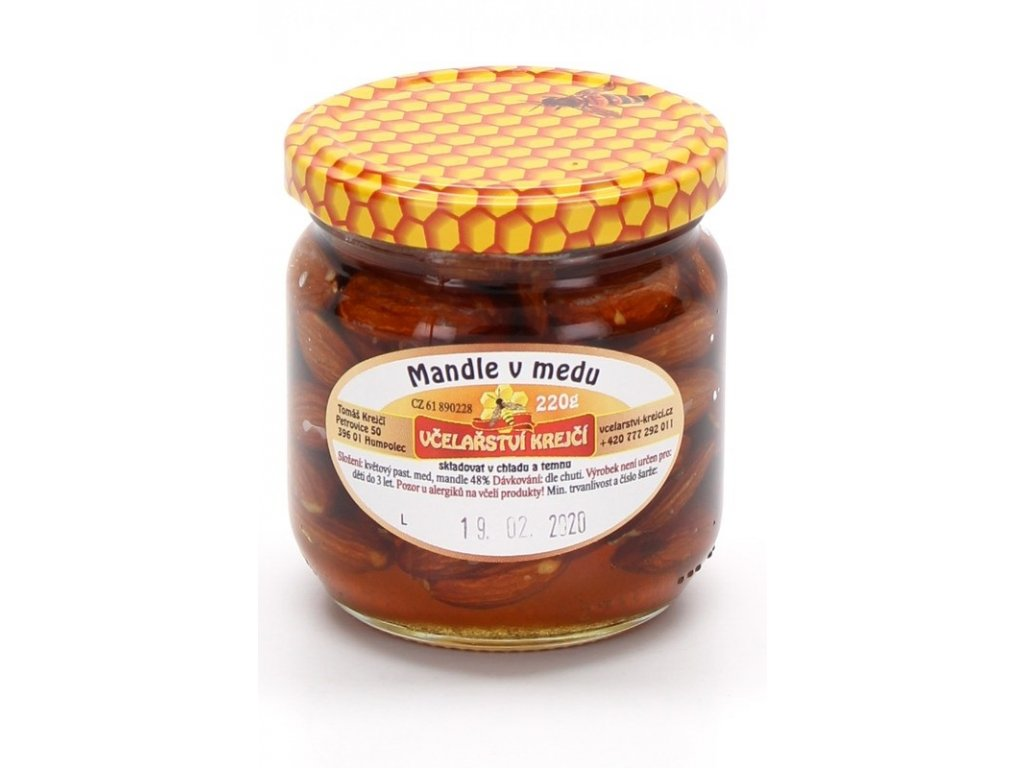 Včelařství Krejčí - Mandle v medu  0,22kg