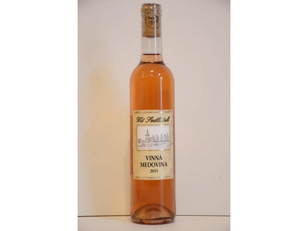 Vinařství Vít Sedláček - Vinná medovina - růžová - 0,50l