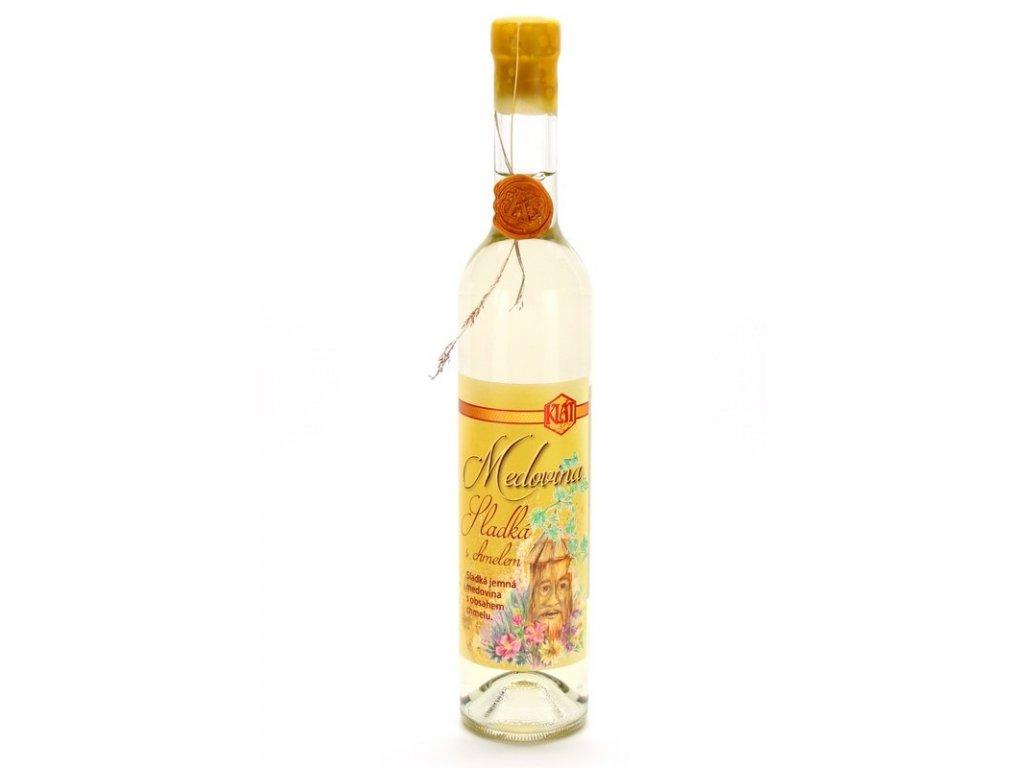 Klát - Medovina sladká s chmelem - 0,5 l  sklo
