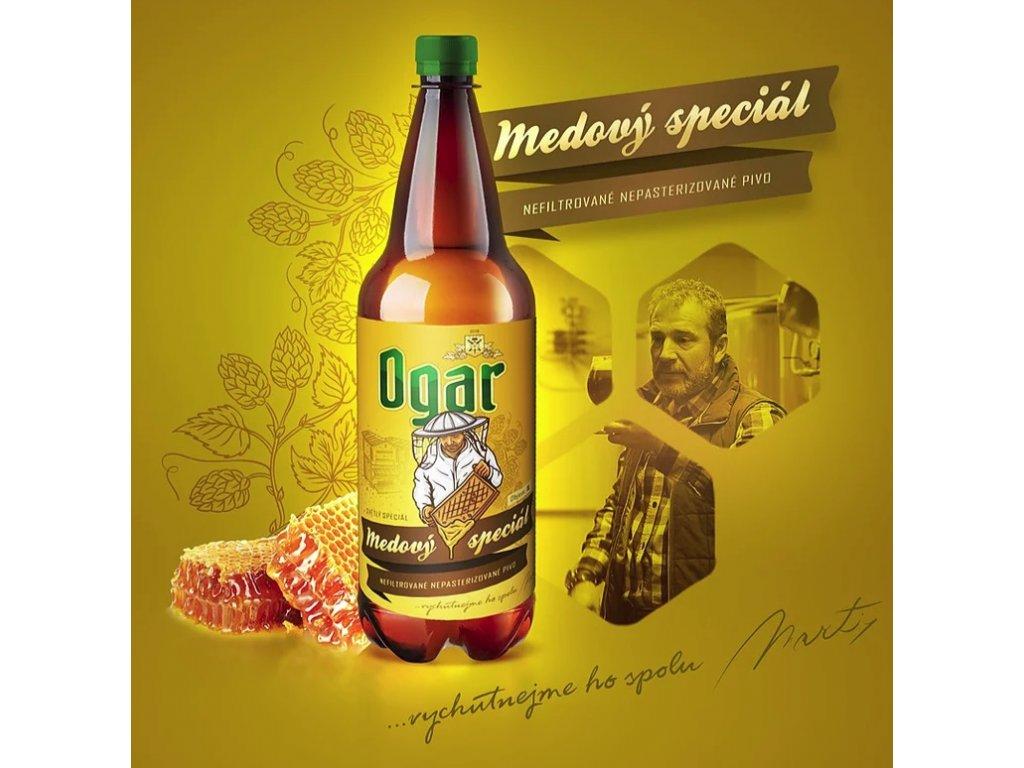 Pivovar Ogar - Ogar  - Medový speciál - 0,5 l