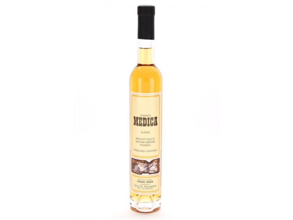 Čebelarstvo Oder - Medovina z kaštanového medu - sladká - 0,38l