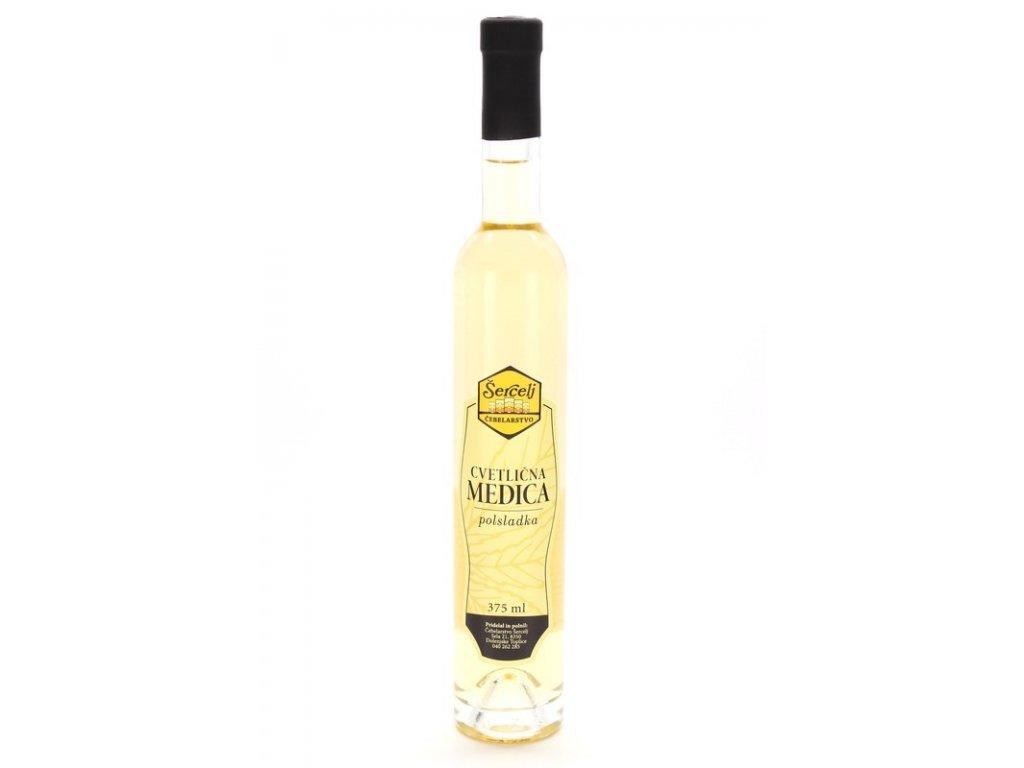 Čebelarstvo Šercelj - Medovina z květového medu - polosladká - 0,375 l