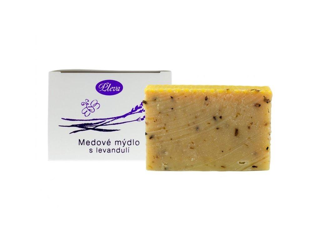 Pleva - Medové mýdlo s levandulí - 0,09 kg
