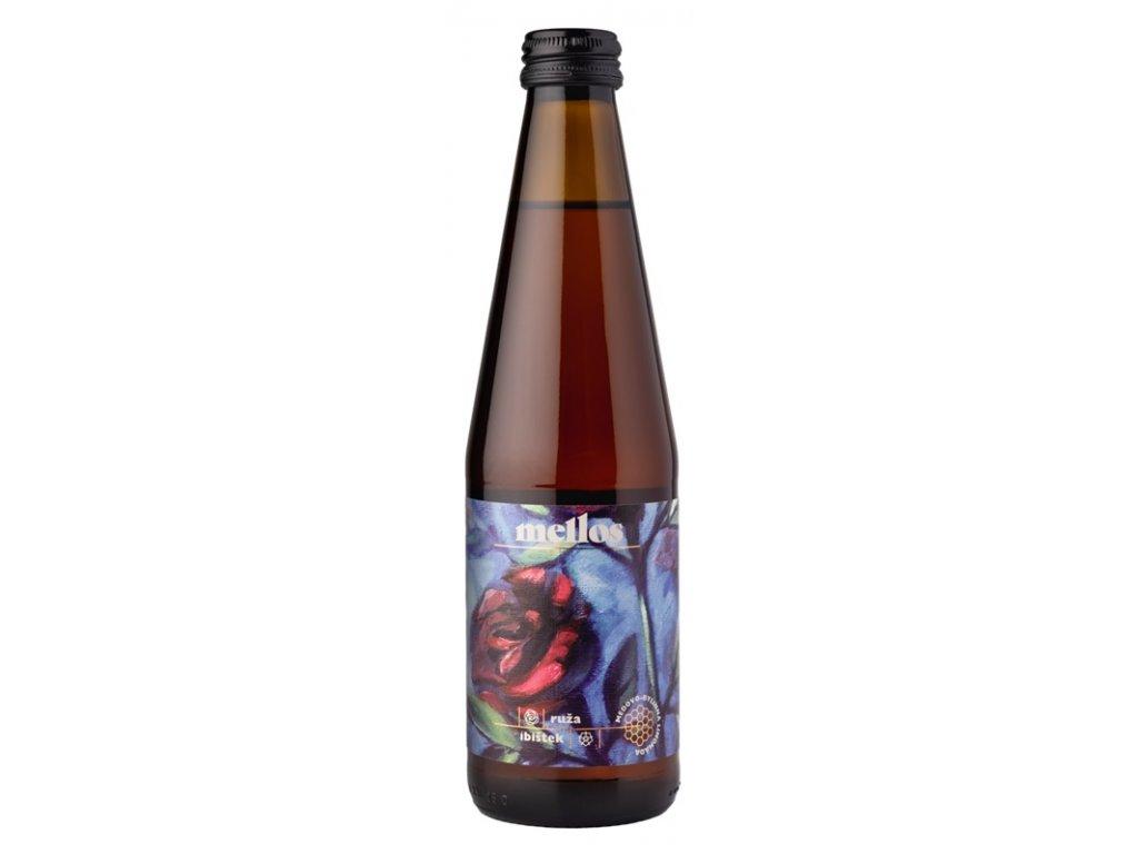 Mellos - růže + ibišek - 0,33 l