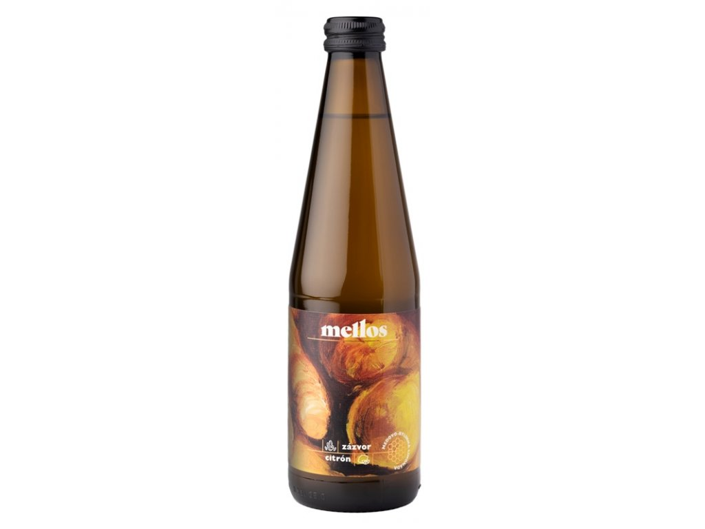 Mellos - zázvor + citron - 0,33 l