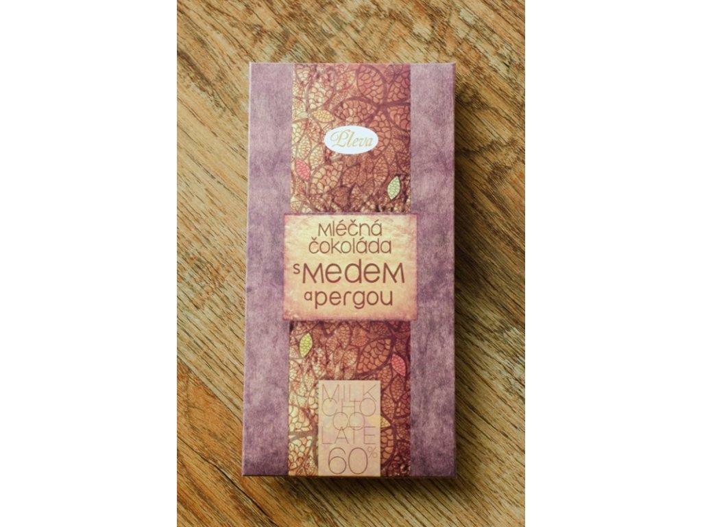 Pleva - Mléčná čokoláda s medem a pergou 60% - 0,04l