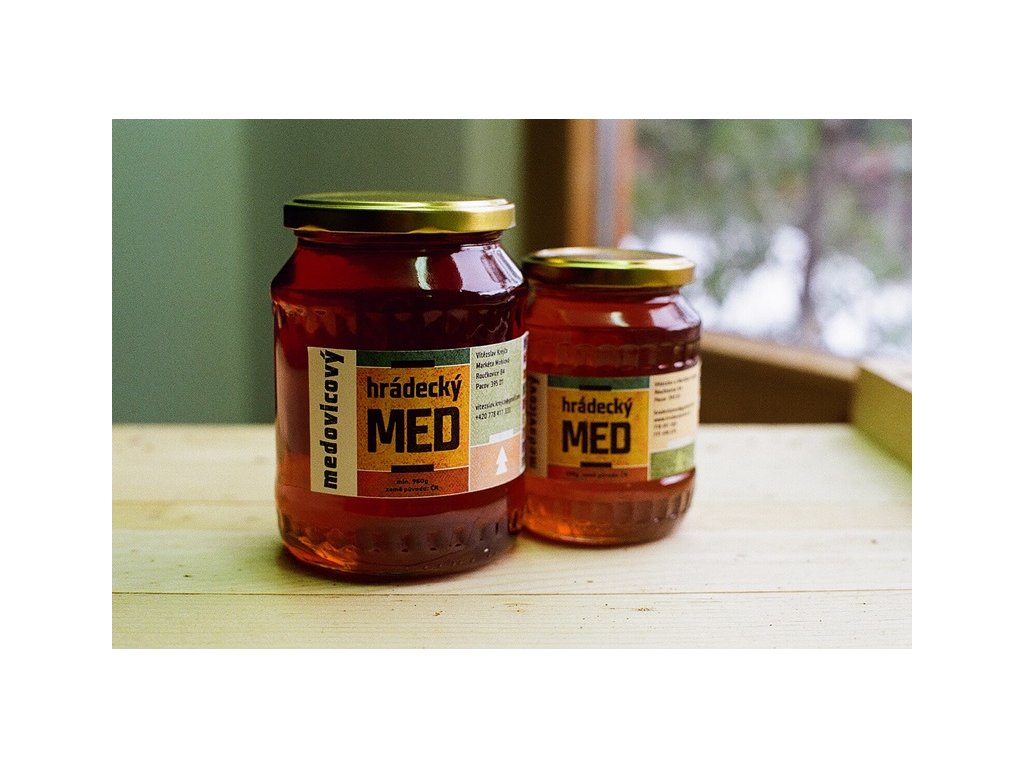 Hrádecký med - Hrádecký med medovicový - 0,48 kg