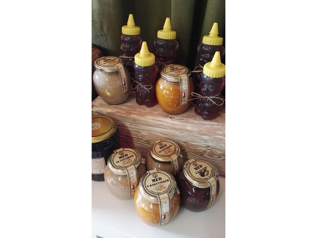 Včelí farma Vostoupalovi - Med s malinou - 0,45l  0,45l