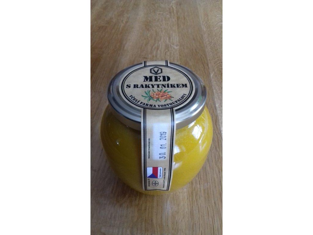 Včelí farma Vostoupalovi - Med s rakytníkem - 0,45l  0,45l
