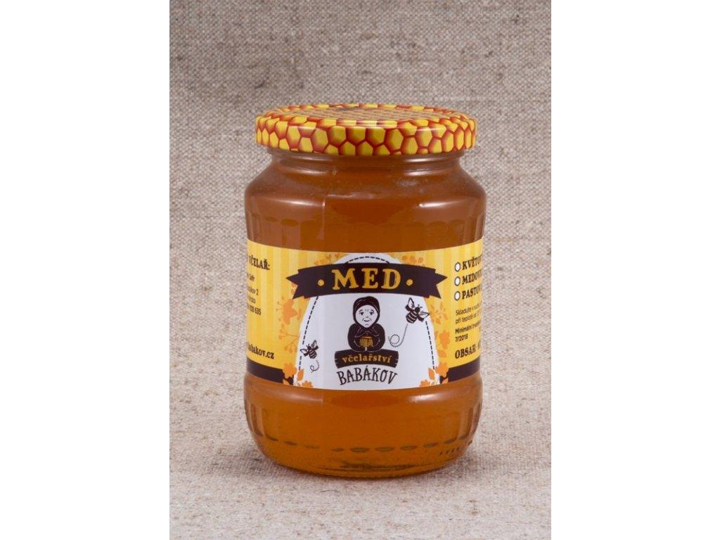 Včelařství Babákov - Med květový (s pohankou) - 0,95 kg