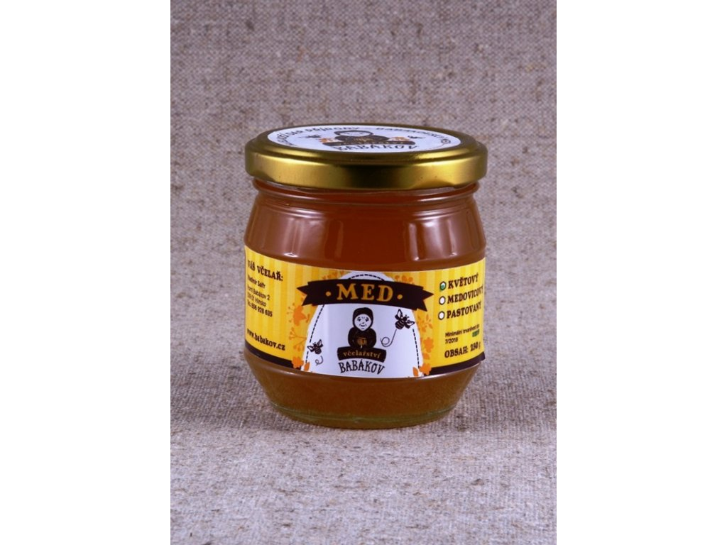 Včelařství Babákov - Med květový - 0,25l  0,25l