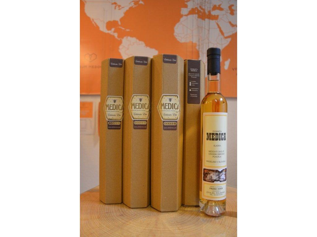 Čebelarstvo Oder - Medovina z kaštanového medu - suchá - 0,38l  sklo