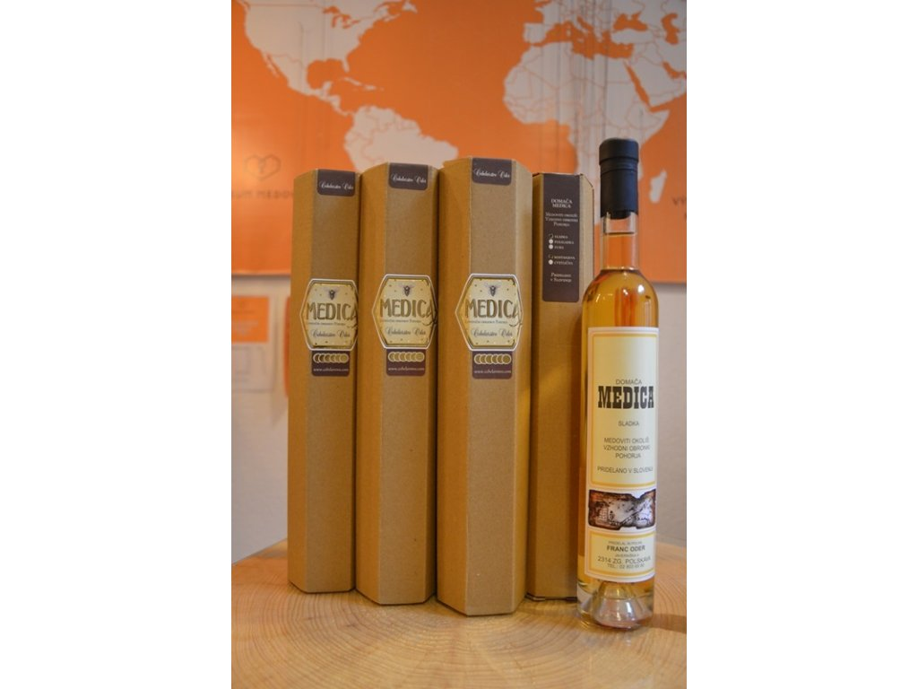 Čebelarstvo Oder - Medovina z kaštanového medu - polosladká - 0,38l  sklo