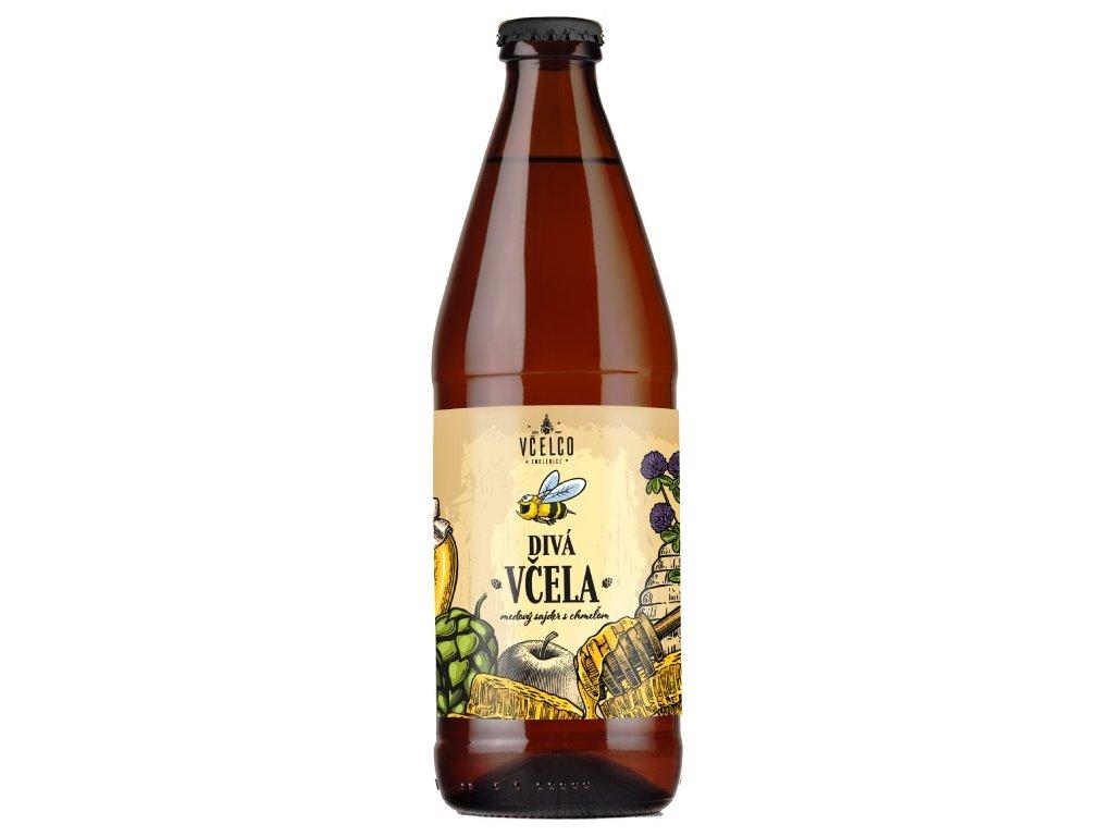 Včelco - Divá včela - medový cider s chmelem - 0,50l  sklo