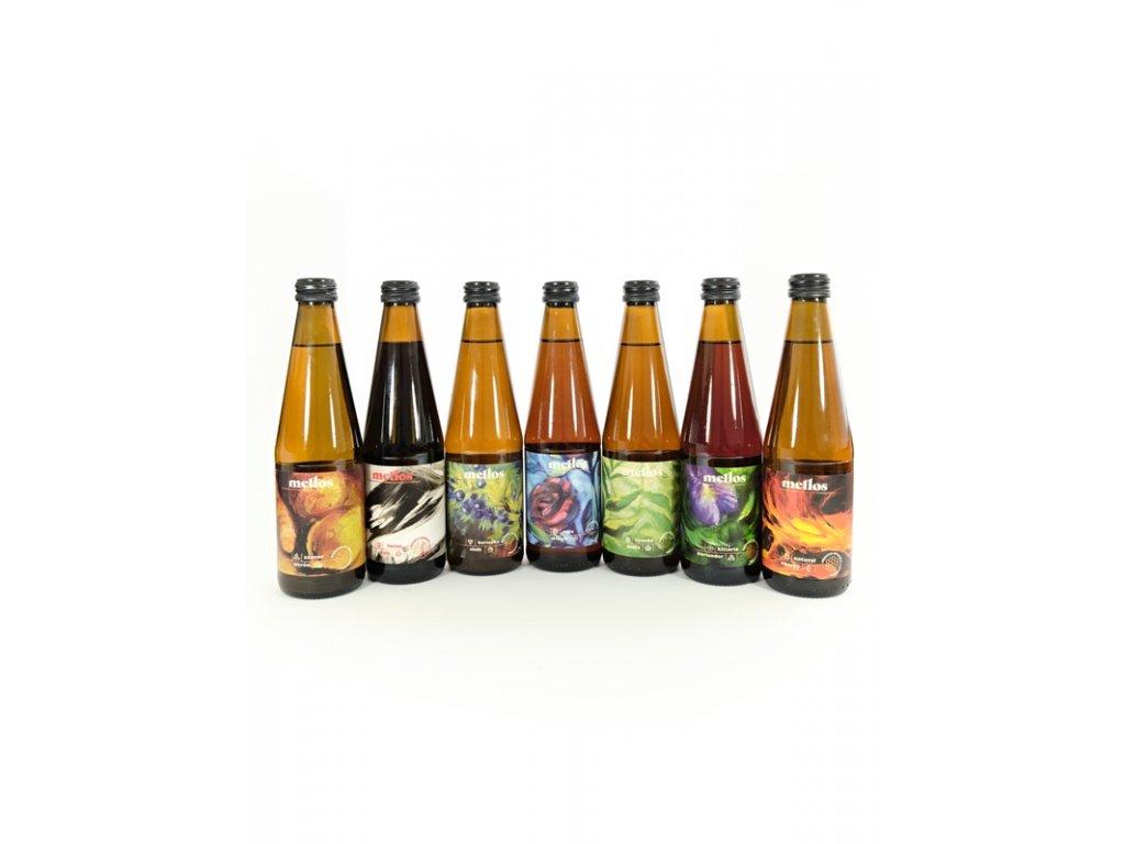 Mellos - Ochutnávková kolekce limonád (7 ks)  sklo