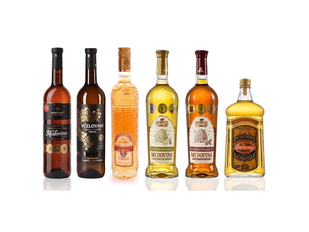 Zvýhodněná kolekce slovenských medovin - malá (6 ks)  sklo