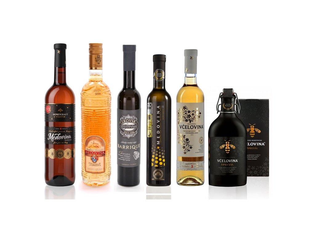 Zvýhodněná kolekce slovenských archívních medovin (6 ks)  sklo