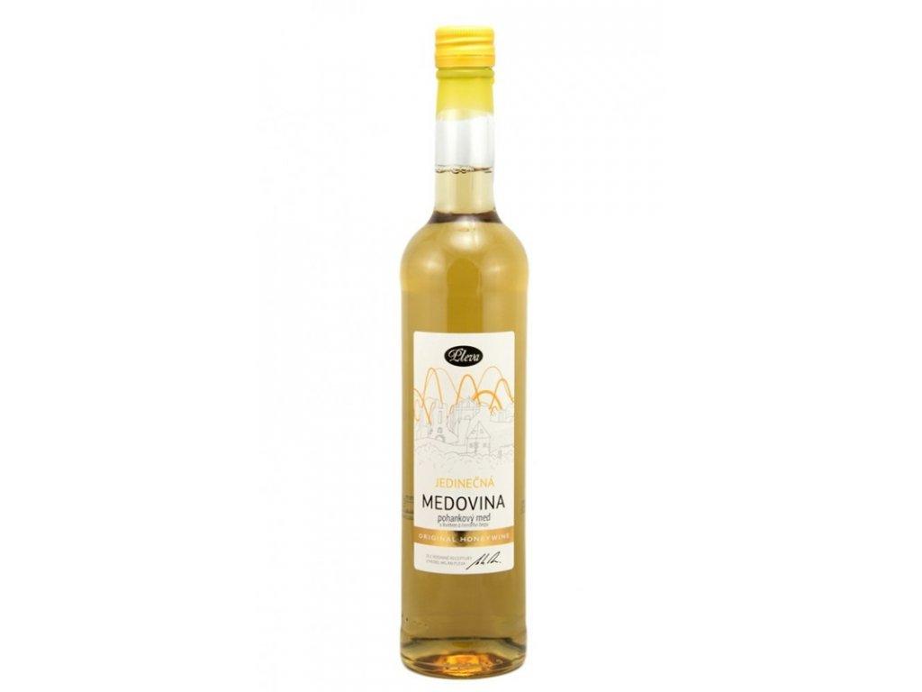 Pleva - Medovina jedinečná - pohankový med s květem z černého bezu - 0,5 l  sklo