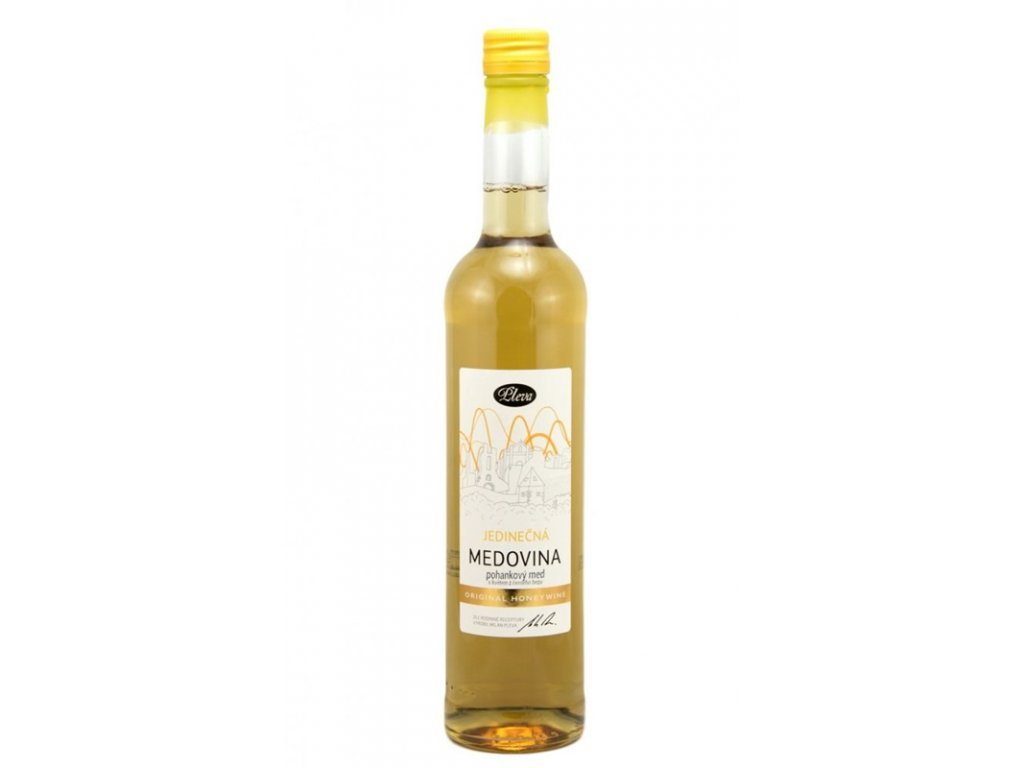 Pleva - Medovina jedinečná - pohankový med s květem z černého bezu - 0,50l  sklo