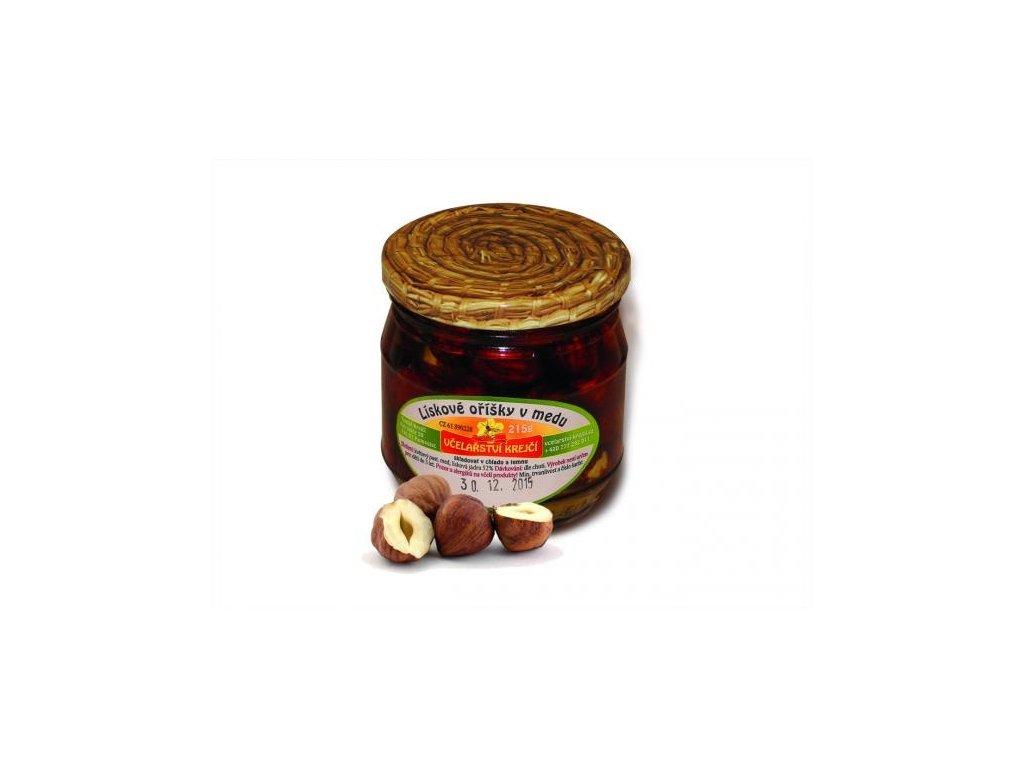 Včelařství Krejčí - Lískové oříšky v medu - 0,25 kg  sklo
